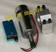 300W Spindle Motor 12-48VDC 12000rpm+52mm Clamp+Speed Control for CNC Router Kit