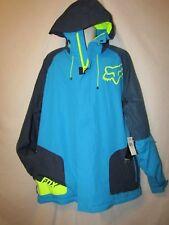mens fox hooded racer ski coat jacket XXL nwt $249 blue