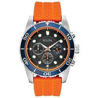 Bulova Sport Collection. Orange Silicone Strap - 98A204