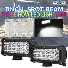 "2x 7inch 252W TRI ROW LED Work Light Bar Spot Offroad Reverse Lamp Fog 4x4WD 6"""