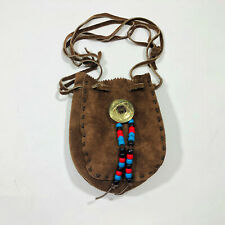 VGC Small Cute Leather Boho Draw String Shoulder Bag