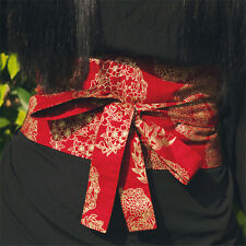 Women's Vintage Japanese Punk Lolita Kimono Skirt Dress Waist OBI / WOVEN Belt