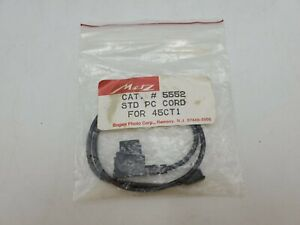 """NOS Metz PC (Male) Sync Cable Cord #5552 for 45CT1 Flash Units - Approx. 15"""""""