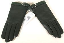 Ralph Lauren Purple Label Green Leather Cashmere Lined Gloves Sz 7.5 D1d