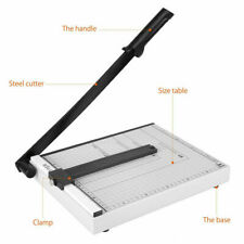 "Paper Cutter 12"" A4 To B7 Metal Base Guillotine Page Trimmer 15 Sheets Capacity"