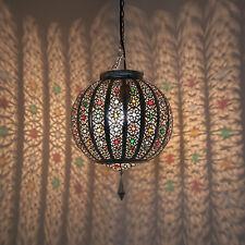 Lámpara Oriental Colgante Linterna marroquí LATIFA PLATA