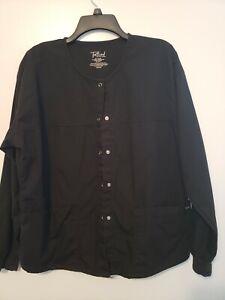 Tafford Scrub Jacket MEDIUM Black - EUC