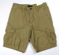 NEW mens khaki AMERICAN EAGLE ripstop cargo shorts classic distressed 33 x 10.5