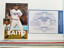 "Los Angeles Dodgers MLB 4"" x 6"" Takashi Saito Player Photo Cards, Lot of 2"