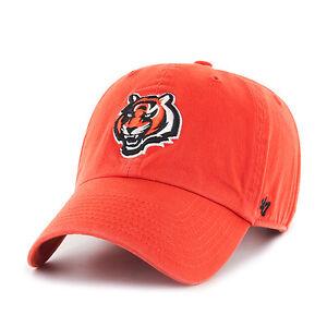Cincinnati Bengals 47 Brand Clean Up Hat Adjustable Cap Orange