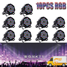 10PCS Stage Light 80W RGB 36 LED DMX 512 DJ Disco Par Party Wedding Show Light