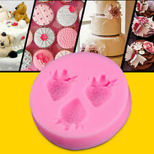 Silicone Mold Fondant Cake Chocolate Decorating Baking Soap Mold Strawberry