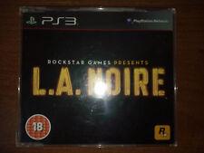 L.A. NOIRE PROMO PS3 PLAYSTATION PROMOTIONAL DISC RARE