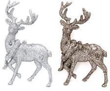 Silver glitter Reno Colgante Árbol De Navidad Decoración ~ color varía
