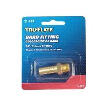 "1/4""NPT 3/8"" Air Hose End Barb Fitting Tru-Flate 21143"