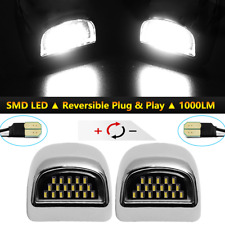 2*18LED Black License Plate Light Sliver Housing  Chevy Tahoe Suburban GMC Yukon