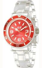 Ice-Watch Unisex CL.RD.U.P.09 Classic Collection Red Dial Clear Plastic Watch