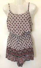 REISS EMPORIUM Ladies Playsuit size 12 Sleeveless Short Summer Spring Paisley