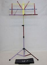 Multi-Colored Sturdy Folding Music Stand w Carrying Bag