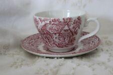 Vintage Broahurst Ironstone tasse et soucoupe Rouge
