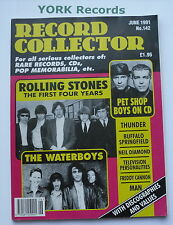 RECORD COLLECTOR MAGAZINE - Issue 142 June 1991 - Rolling Stones / Waterboys