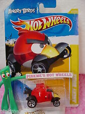 2012 #47 Prem Hot Wheels Angry Birds ✰ Rojo Pájaro ✰ Nuevo Premier ✰ Caw