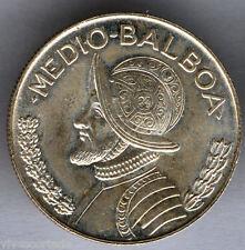 Panama Halb Balboa 1962 silber @ Ohne Kreisförmige @