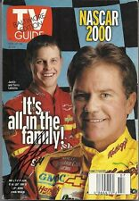 FEBRUARY 2000 TV GUIDE MAGAZINE JUSTIN LABONTE & TERRY LABONTE COVER SIGNED
