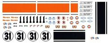 #11 Jerry Titus GULF Mustang 1/32nd Scale Slot Car Waterslide Decals