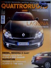 Quattroruote 626 2007 Prove Laguna, Punto Abarth, Nuova Lancia Musa [Q.35]
