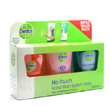 Dettol No-Touch Hand Wash System Scented Refill Value Pack - 3 x 250ml Refills
