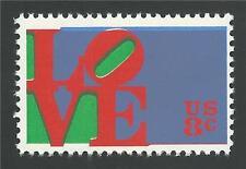1973 Robert Indiana LOVE Red Color Downward Frame Shift Error Stamp MINT! #1475