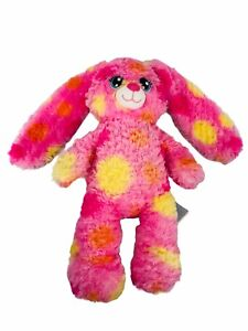 "Build A Bear Bloom Bunny Rabbit Pink Multicolor Rainbow 15"" Rare HTF"