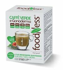 4 Box CAFFE' VERDE & GANODERMA bustine solubili FOODNESS