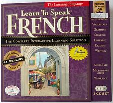 The Learning Company Learn to Speak French 7.03 CD-ROM/Win98/95 microphone
