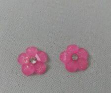 Screw Back (pierced) Handmade Crystal Costume Earrings