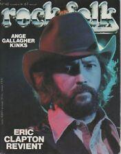 """ROCK & FOLK n°142 novembre 1978"" Eric CLAPTON (Photo Philippe MOGANE)"
