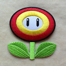 FIRE FLOWER SUPER MARIO EMBROIDERY IRON ON PATCH BADGE