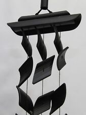 Japanese All Handmade Bamboo Charcoal Wind Chime Sazanami Three Strands