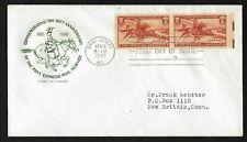 #894 3c Pony Express - House of Farnam FDC EE RH margin pair - Saint Joseph, MO