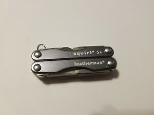 Leatherman Gray SQUIRT S4 Multi Tool Multitool Knife USED