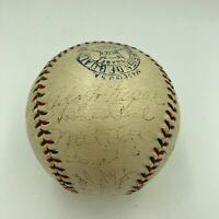 1933 New York Giants World Series Champs Team Signed Baseball Mel Ott JSA COA