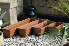 Pflanzkasten,Blumenkasten,2er Set!!mit Wasserspeicher;Kunststoff,terracotta,40cm