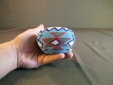 "Very Fine Native American 1930 ~ 40's Paiute Washo Fully Beaded Basket 3.5"""