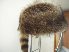 GENUINE badgers 100% BARSUK  FUR HAT WOMEN . COLOUR SILVER GREY GOLD 21 inch
