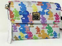 Disney Dooney & and Bourke Mickey Mouse 10th Anniversary Foldover Crossbody NWT
