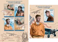 Charles Lindbergh Planes Flugzeuge Aviation Niger MNH stamp set