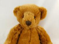 "Russ Berrie Co Art C Bear Sitting Teddy Plush Stuffed Animal 12"" Green Paw Print"