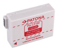 LP-E8 Akku Patona für Canon EOS 550D, 600D, 650D, 700D  - 950mAh - Accu LP-E8+