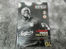 561) Liverpool v CSKA Sofia programme champions league 23-8-2005